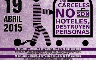 19 de Abril de 2015: XIV Marcha contra la Macrocárcel de Zuera (Zaragoza)