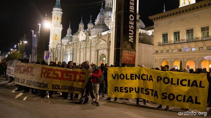 Manifestación Gamonal Plaza Pilar Zaragoza