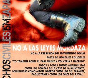 #SinMordazas – Manifestación contra la Ley Mordaza el 30 de Junio