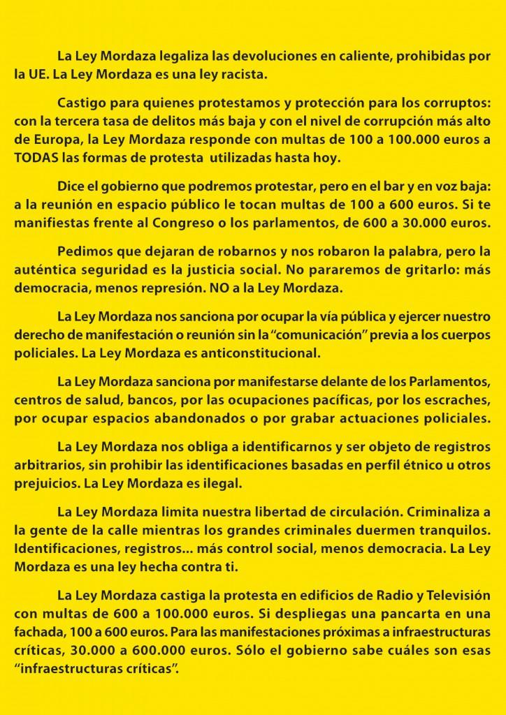 Fuera Ley Mordaza Derechos Civiles Zaragoza