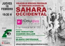 Charla 'Violación de Derechos Procesales en Territorios Ocupados del Sáhara Occidental'