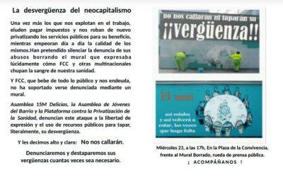 Censuran Mural en Territorio Delicias (actualización).