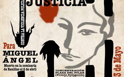 El 23 de Mayo, nueva concentración, Justicia para Miguel Ángel, contra la violencia policial.