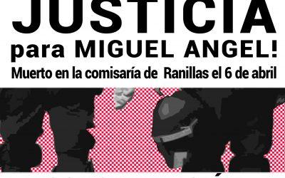 Contra el archivo del caso y por su reapertura.  #JusticiaParaMiguelAngel.  18 de Octubre, 19'30 h. Pza. de las Canteras (Torrero).