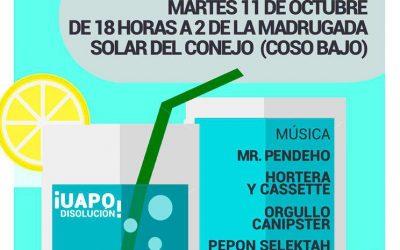 Fiesta Antirrepresiva. 11 de Octubre, desde las 18 h. Pilares contra la represión.