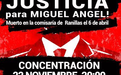 Undécima concentración para exigir Justicia para Miguel Ángel.