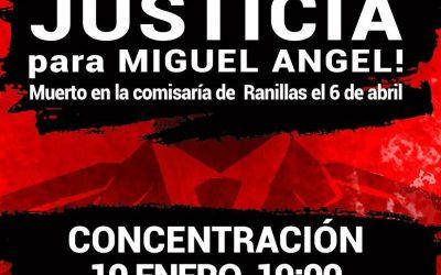 2017 con #JusticiaParaMiguelAngel.  10 de Enero, 19 horas, Plaza del Pilar, frente a la Delegación del Gobierno.
