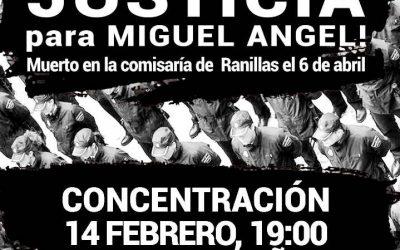16ª Concentración.  #JusticiaParaMiguelAngel 14 de Febrero, a las 19 h. en la Plaza de España.