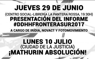 Enlace al video de la Charla de Presentación.  Contra la violencia racista, contra la represión de la pobreza.