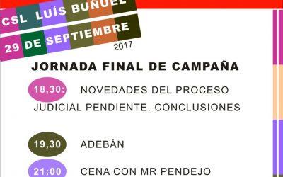 Absolución10Zaragoza: 29 de Septiembre, Jornada Final de Campaña.