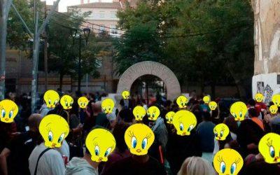 Comunicado del Grupo DerechosCiviles15mZgz en la fiesta popular antirrepresiva. Solar del Conejo. Barrio de la Madalena. 11-10-17