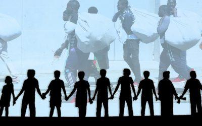 Cadena humana: contra el racismo institucional.