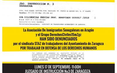 Zaragoza no se calla, todas y todos somos manteros.