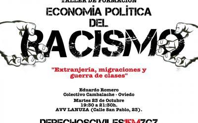 Taller de Formación para el 23 de Octubre: Economía política del racismo. Extranjería, migraciones y guerra de clases