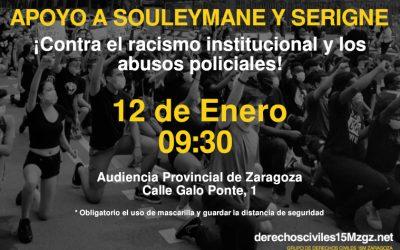 Con Souleymane y Serigne, contra el racismo institucional
